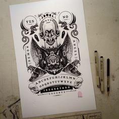 Image of Bat Ouija Board