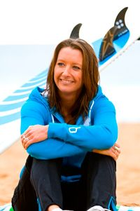seven time world surfing champion layne beachley now married to kirk pingelly from inxs