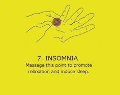 Acupressure for insomnia