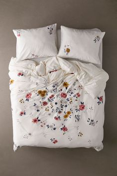 Shop Blossom Embroidered Duvet Cover at Urban Outfitters today. Floral Bedding, Boho Bedding, Duvet Bedding, Comforter Cover, King Duvet, Queen Duvet, Duvet Sets, Duvet Cover Sets, Embroidered Bedding