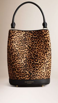 5f8c79d7a6f9 Burberry Camel The Bucket Bag in Animal Print Calfskin - The Bucket Bag in  animal print calfskin. Inspired by the runway