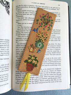 "Cross Stitch Bookmark, ""Better Garden"", Handcrafted Bookmark, Gift for Bookworm"