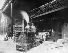 """Horwich 18"""" gauge locomotive: narrow gauge 0-4-0ST shunter """"Wren"""". Built in…"""