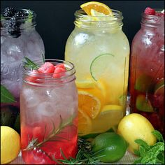 LOTS of flavored water ideas and links!  5. Watermelon Rosemary Flavored Water (lovely flavor combo). Add a sprig of rosemary to jar and muddle gently (rosemary releases a strong flavor without much muddling). Add watermelon cubes; twist and press gently to release juices. Fill jar with ice cubes, add water to the top, stir, cover and refrigerate.