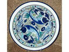 12-in. Aqua Fish Serving Bowl by Le Souk Ceramique at Cooking.com
