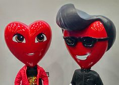 heart heads for mannequins, pinned by Ton van der Veer