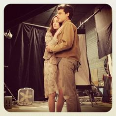 Alice Englert and Alden Ehrenreich post for a #BeautifulCreatures photo shoot. #YAbooks #books #kamigarcia #movies