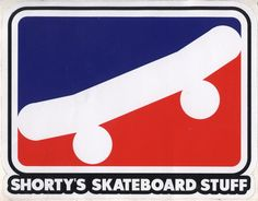 "Shorty's Skateboards Skateboard Stuff Icon Logo 6"" Sticker. Click on photo to purchase."