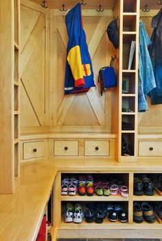built-in storage for mudroom