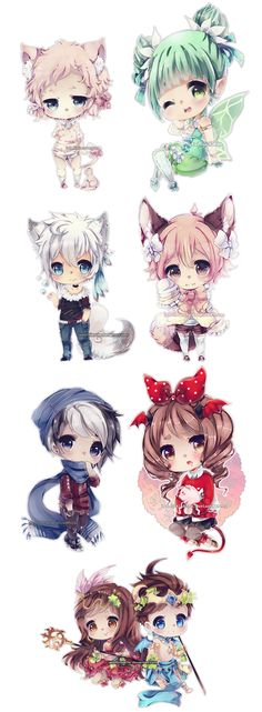 Chibi anime so cute! Art Kawaii, Manga Kawaii, Loli Kawaii, Manga Cute, Kawaii Chibi, Cute Chibi, Manga Anime, Anime Art, Dibujos Anime Chibi