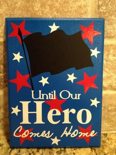 Military Hero Chalkboard Countdown Calendar READY by LiquidTherapy, $18.95