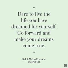 Ralph Waldo Emerson Quote Dream - Ivanka Trump