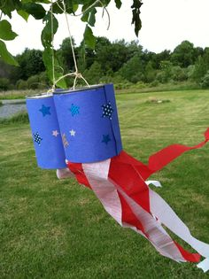 Hang up these patriotic wind socks outside for everyone to admire