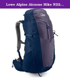 Lowe Alpine Airzone Hike ND28 Pack Aubergine / Blueprint 28L. FEATURES of the Lowe Alpine Airzone Hike ND28 Pack Unique walking pole tip grippers for secure storage AdaptiveFit harness for maximum shoulder comfort Hipbelt pockets for easy access storage Large front stretch stash pocket giving versatile storage options Padded hipbelt for a comfortable carry Sternum strap with whistle Side compression AirZone breathable back maximising airflow Hydration compatible Key clip Large stretch…