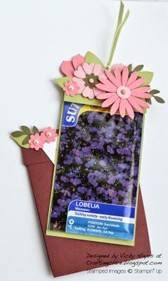 Stampin' Up ideas and supplies from Vicky at Crafting Clare's Paper Moments: Flower pot in bloom seed gift