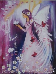 Canvas Painting Tutorials, I Believe In Angels, Butterfly Drawing, Angel Pictures, Zen Art, Angel Art, Christmas Angels, Illustrations, Art Lessons