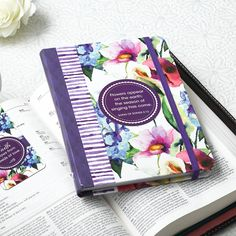 Hardcover Journal  Seeds of Love  Purple - Song of Songs 2:12  Our writing journals are perfect for gift-giving, with a presentation page in the front.  * 5 x 7 * 160 Lined Pages * Elastic Band Closure * Lay-Flat Binding * Embossed & Spot Varnished Cover Design * Presentation Page for Gift-Giving   PRICE: R100 per Journal.