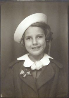 +~ Vintage Photo Booth Picture ~+  Sailor girl ~ love her scotty dog pin.