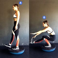 WH's Next Fitness Star Winner, Nikki Metzger, shares her favorite excercises using a BOSU ball. Fitness Workout For Women, Fitness Goals, Balance Trainer, Bosu Ball, Home Workout Equipment, Fitness Equipment, Dumbbell Workout, Yoga Fashion, At Home Workouts