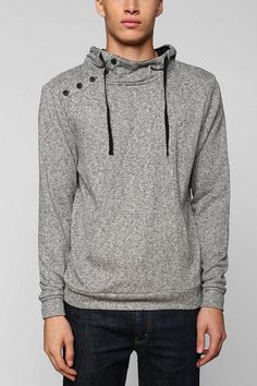 Cozy asymmetrical hoodie from The Narrows. #urbanoutfitters