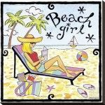 Beach Girl Illustrations by Jennifer Brinley