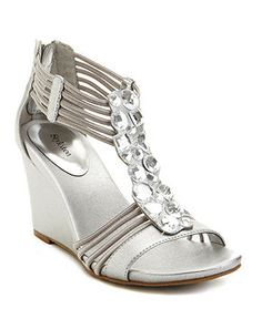 81aaece46d3 Nikita Wedge Sandals in Silver Wedge Sandals