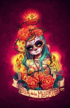 Día de los Muertos Art Print by Gunkiss