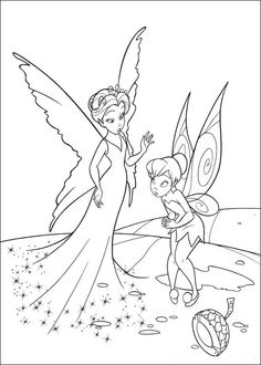 tinkerbell coloring pages - Google-søgning | Just things | Pinterest ...