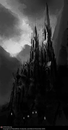 Dark Cathedral (it's kind of like Mont St. Michel)