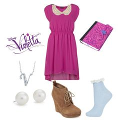 """""""Violetta- Nuestro camino"""" by ruggerista ❤ liked on Polyvore featuring VILA, River Island, Michael Kors, Topshop, BERRICLE and Blue Nile"""