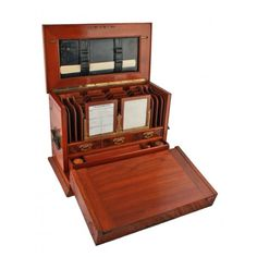 antique Victorain writing box|Victorian walnut stationery cacinet.