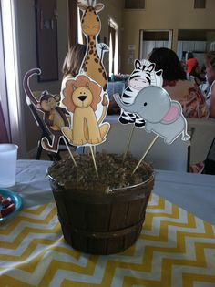 Jungle baby shower...templates available in Heritage Makers studio
