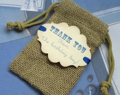 10 baby shower airplane burlap favor bags by PinKyJubb on Etsy