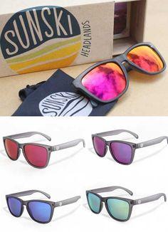 Black Vintage Sunglasses // Sunski Sunglasses  http://www.thegrommet.com/sunskis-sunglasses-4267 $48