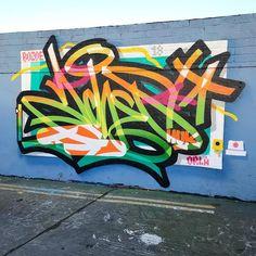"3,425 Me gusta, 65 comentarios - @achesdub en Instagram: ""Todays effort beside @eskohuk.tgb #graffiti Thanks to @montana_colors and @allcitygraffitistore…"""