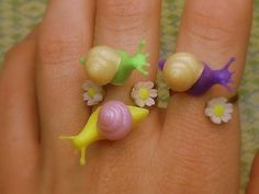 The Pesky Pretties Ring yellow and pink by loveevol on Etsy, $12.00