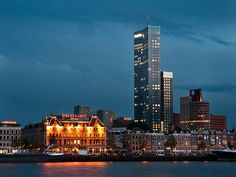 Maas Tower and Noordereiland (Rotterdam, the Netherlands)