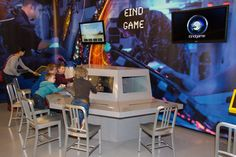 Speel e-games in het techniekmuseum.