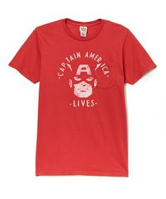 Another great find on #zulily! Red Captain America Tee - Men #zulilyfinds