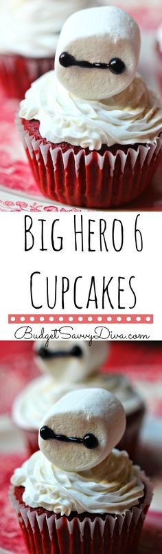 A MUST for any Big Hero 6 Fan - Beyond easy to make - perfect yummy craft for your kids to make - Big Hero 6 Yummy Craft - Big Hero 6 Cupcakes Recipe – Baymax