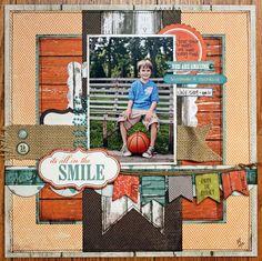 "Scrapbook page Layout ""Little Basketball star"""