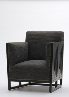 Josef Hoffmann, club chair, 1905. For Wiener Werkstätte, MAK Wien, via Europeana