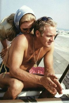 """Steve McQueen and Faye Dunaway in 'The Thomas Crown Affair', 1968.  Steve McQueen/ Swoon """""""