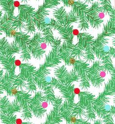Holiday Inspirations Christmas Fabric Pine & Polka Dots GlitterHoliday Inspirations Christmas Fabric Pine & Polka Dots Glitter,