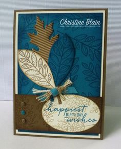 HAPPY HEART CARDS: STAMPIN' UP! LIGHTHEARTED LEAVES BIRTHDAY CARD