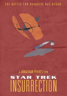 Star Trek: Insurrection - Minimalist Poster by on DeviantArt Love Film, Film Star Trek, Jonathan Frakes, Saga, Star Trek Insurrection, Alternative Movie Posters, About Time Movie, Stars, Minimalist Poster