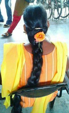 Indian Long hair girls added a new photo. Cut My Hair, Long Hair Cuts, Long Hair Styles, Down Hairstyles, Girl Hairstyles, Braided Hairstyles, Beautiful Braids, Beautiful Long Hair, Best Long Haircuts