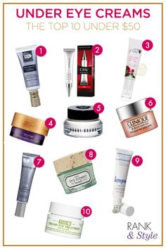 The best and brightest under eye creams under $50!