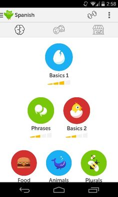 Duolingo - my spanish lesson hierarchy ✌✅