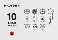 Made Dish Logo Package  Just buy this project http://goo.gl/e1YdJZ
